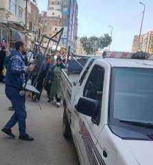 رفع ٥٥٥ حالة إشغال طريق خلال حملة بالبحيرة