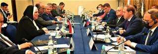 وزيرة التجارة والصناعة تبحث مع نظيرها الروسى سبل تعزيز التعاون الاقتصادي المشترك بين القاهرة وموسكو